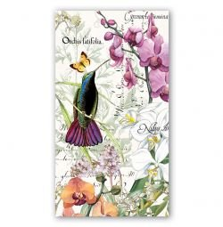 Guardanapo de papel estampa beija-flor e flores
