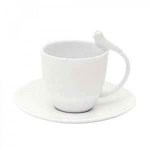 Xícara para chá em porcelana birds