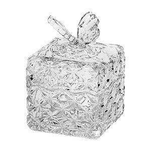 Bomboniere cristal borboleta na tampa
