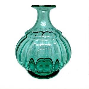 Vaso em vidro verde água modelo 02