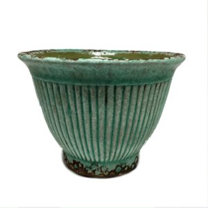 Cachepot verde em cerâmica P