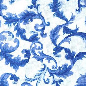 Guardanapo em tecido com arabescos azuis
