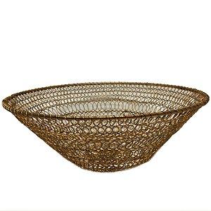 Bowl em arame dourado trançado