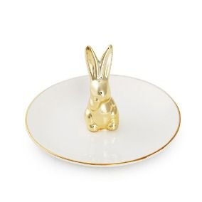 Pratinho com coelho dourado