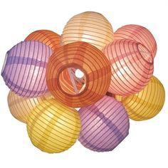Set com 10 mini luminárias coloridas