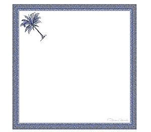 Guardanapo em voil palmeiras azuis