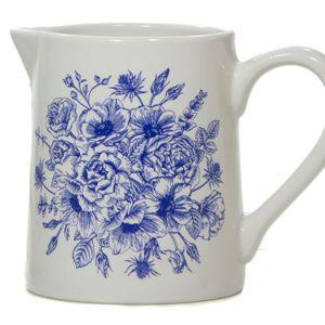 Jarra estampa floral azul P