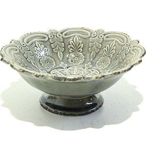 Taça P em cerâmica cinza