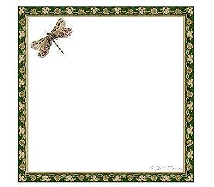 Guardanapo em voil libélulas