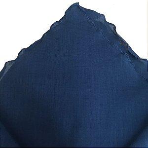 Guardanapo em algodão com barrado babado