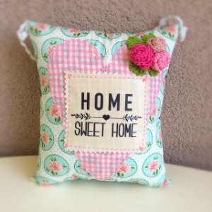 Almofada para pendurar Home Sweet Home
