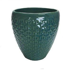 Cachepot em cerâmica corrente musgo