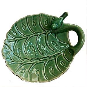Mini saladeira em cerâmica verde aurora lala