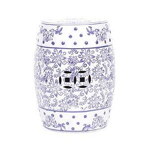 Seat garden em cerâmica azul e branco