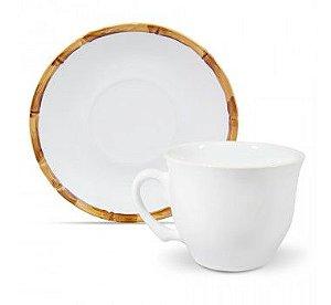 Xícara para chá em cerâmica bambu
