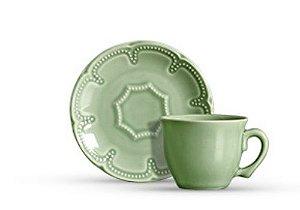 Xícara para chá em cerâmica verde celadon