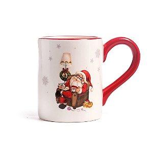 Caneca cerâmica Papai Noel