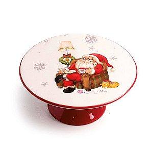 Prato suspenso em cerâmica Papai Noel
