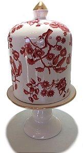 Porta panetone em cerâmica rose G