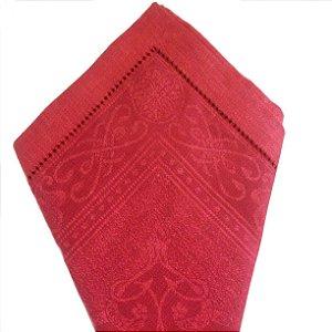 Guardanapo em linho português vermelho