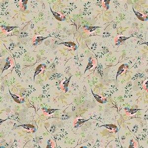 Guardanapo de tecido pássaros fundo fendi