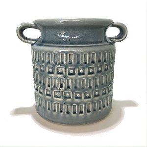 Vaso em cerâmica azul claro