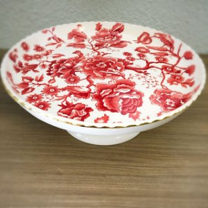 Prato para bolo rendado rose