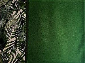 Jogo americano verde borda folhagem