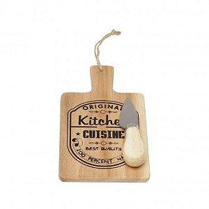 Tábua individual de queijo com faca PP