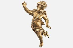 Anjo em resina dourado