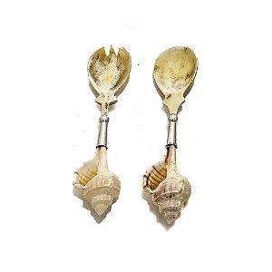 Colher e garfinho concha e chifre
