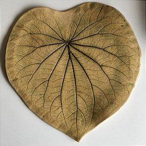 Folha em cerâmica trabalhada