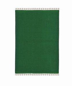 Jogo americano verde com pompom