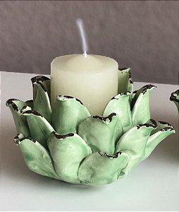 Castiçal em cerâmica alcachofra