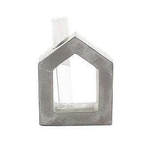 Vaso casinha de cimento queimado com tubinho