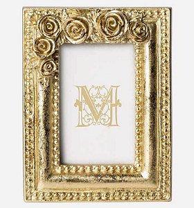 Mini porta retrato dourado