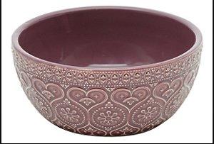 Bowl cerâmica heart vinho