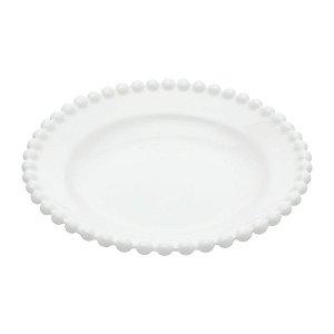 Prato em cerâmica dots branco
