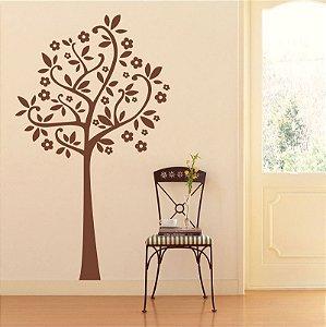 Adesivo Árvore Flores