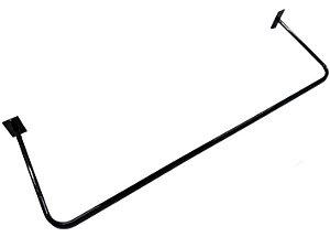 """3 Araras de Parede Slim Super Reforçada de Tubo redondo de 13mm de diâmetro com parede Grossa - 1 metro - Maior Área Útil para os  Cabides da Categoria """"95cm"""" - Preta , Branca  ou Cromada- Grátis segue parafusos e buchas para Fixação -  Pronta entrega"""