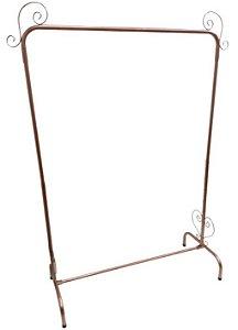 1 Arara Retrô Rose Gold com 1 Cabideiro - 1,2 metros de Largura - Altura  com 5 regulagem de 1,47 até 1,97 m - Pronta Entrega - Preço Promocional