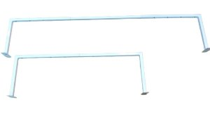 3 Arara Extensível Regulável de Fixar na Parede de Tubo Quadrado Reforçado- 90 cm até 150 cm - Branca ou Preta - Pronta Entrega
