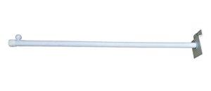 15 RT Expositor Cabideiro  Slim Branco de 40 Cm  para Painel Canaletado - Super reforçado - PRONTA ENTREGA