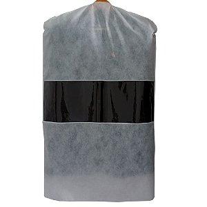 Capa para Terno Branca com Visor Central 100cm x 60 cm CAIXA 30 Peças - Produto 100% Nacional