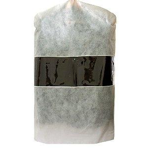 10 Capas para Terno Beges 100cm x 60cm - com Visor Central - Lavável - Produto 100% Nacional