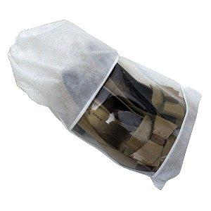 Saco  para Sapatos Branco -  38 cm x 28 cm - Fabricado em TNT com Visor Cristal -CAIXA 100 Peças