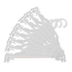 Cabide para Lingerie Branco - CAIXA 200 PÇS -5cm (altura) x25cm (largura) x 2mm (espessura)