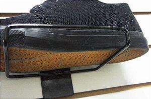 Suporte Porta calçado  para  1 pé  (15 cm Profundidade x 12cm Largura)- Base para Parede ou Painel Canaletado -  30 Unidades - Tempo de fabricação de até 8 dias úteis - Clique na foto para ver detalhes