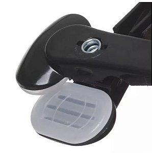 Presilha Grande com Silicone Interno para não Marcar Roupa - CAIXA COM 200 PÇS - Branco, Preta, Prata e Acrílico Para Cabides com Diâmetro de 10 a 14 mm
