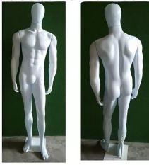 Manequim Masculino- Linha Econômica- Corpo Inteiro Branco Modelo Bombado  ( Plástico) + Base 30x30 Grátis- Altura: 1,9m- Tempo de produção 8 dias  uteis - Frete não Incluso